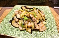 簡単☆豚と茄子と長ネギの生姜味噌炒め♪