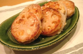 しゃっきり!れんこんの鶏ひき肉はさみ焼き