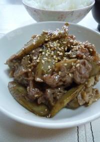 牛肉と牛蒡のガッツリ炒め