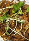 ゴボウと豚肉の味噌炒め