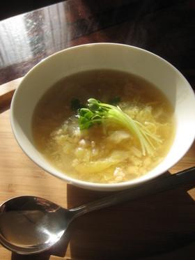 白菜のとろとろスープ。