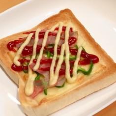 簡単☆10分で♬3度焼ピザトースト