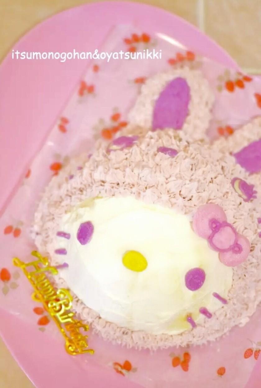 うさぎキティのイチゴケーキ♡イースターも