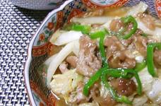 白菜とぷるぷる牛肉の旨煮☆カレー風味