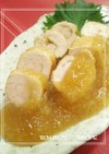 ➏ 鶏の柚子胡椒巻き✿みぞれあんかけ ➏