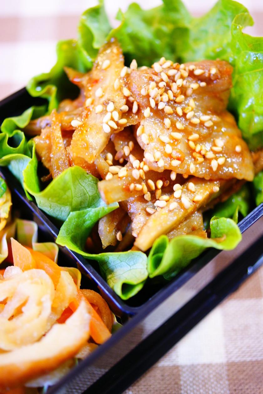 ✿お弁当に♪ピリ辛豚ごぼう炒め✿
