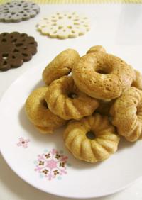 ✿ฺ全粒粉とおからのメープル焼きドーナツ