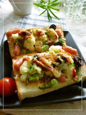 塩麹・ケチャ×ソーセージの和トースト
