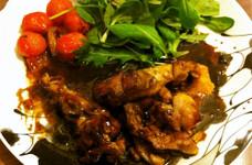 ハチミツとバルサミコのソテー(鶏モモ)