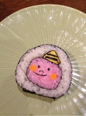 節分☆鬼の飾り巻き寿司