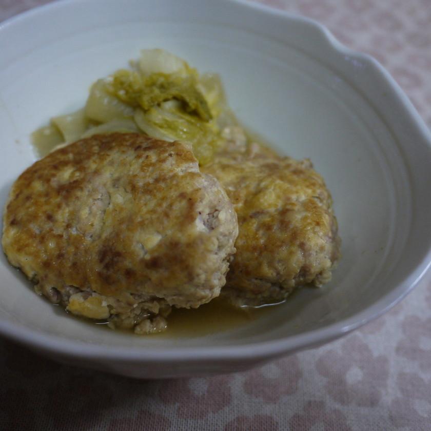 白菜たっぷりお豆腐ハンバーグ