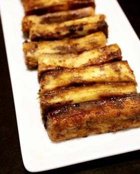 5分おつまみ。高野豆腐バルサミコステーキ