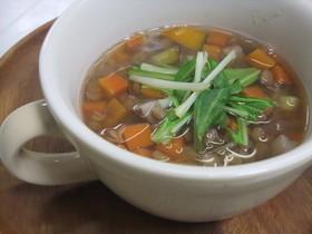 レンズ豆と根菜のスープ