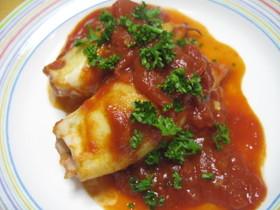 やりいかの詰め物のトマト煮