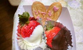 苺の本命バレンタインチョコレート