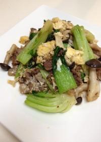 青梗菜と牛肉の炒め物