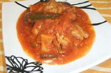 ぱぱっと☆☆鶏肉と野菜のトマト煮込み
