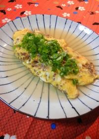 『合挽と卵の中華風あんかけオムレツ』♬