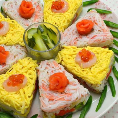 ちらし寿司ケーキ②ひな祭り・子供の日に♪