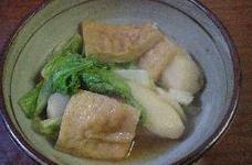 里芋と丸天と白菜の煮物