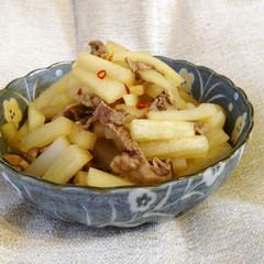 大根と牛肉の中華風ピリ辛炒め煮