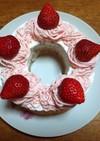 苺のモンブランシフォンケーキ