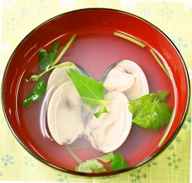 桃の節句、白だしで簡単はまぐりのお吸い物