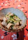 鶏皮とキュウリの柚子胡椒ポン酢和え♬
