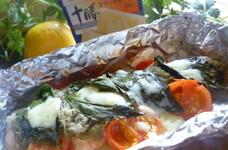 簡単♬鮭のバジルチーズホイル焼き