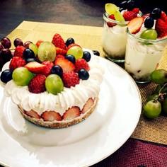 いちごのレアチーズケーキ
