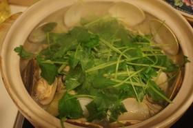 酒蒸しキャベツ☆はまぐり・牡蠣を一緒に!