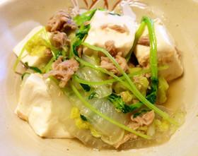 簡単☆早い!豆腐・白菜・ツナのさっと煮
