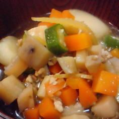 体質改善◆和風根菜スープ