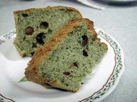 よもぎとあずきのシフオンケーキ