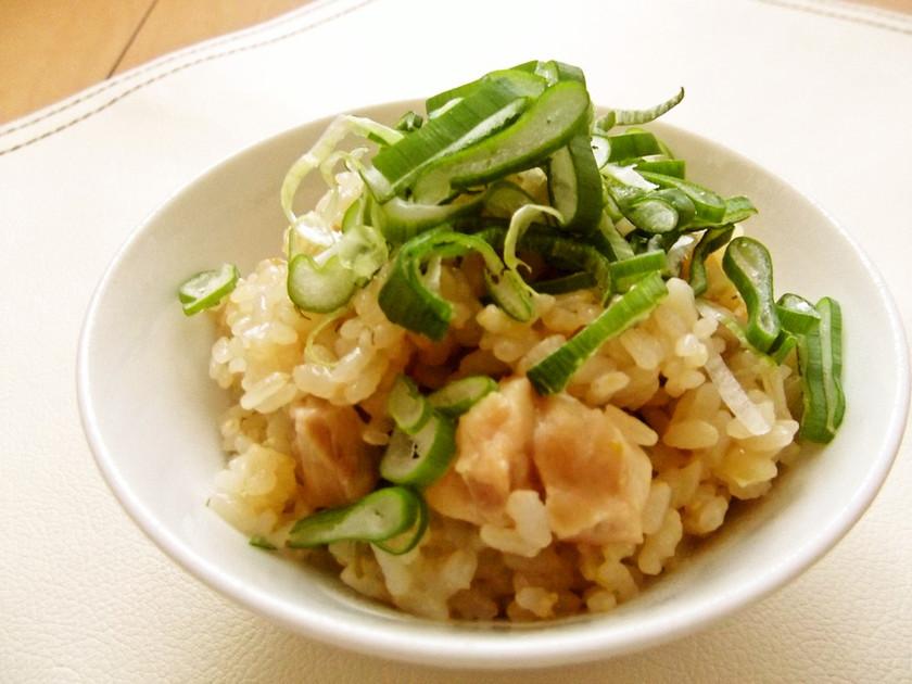 ねぎと生姜の炊き込みご飯