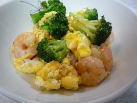 ☀超簡単♪エビとブロッコリーの卵炒め