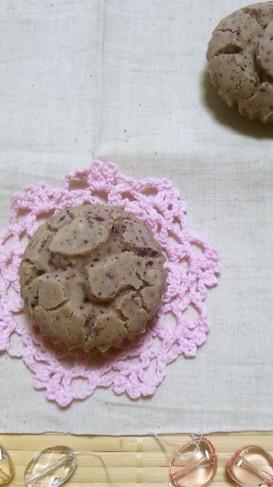 小さな米粉の蒸しパン*ゆかり苺