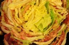 華やか☆白菜と豚こまのブーケ鍋
