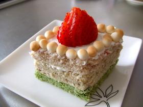 おやつイン☆レンジで彩り蒸しケーキ♪