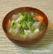【農家のレシピ】具だくさん☆けんちん汁の写真