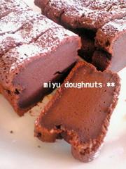 簡単*超濃厚チョコケーキの写真