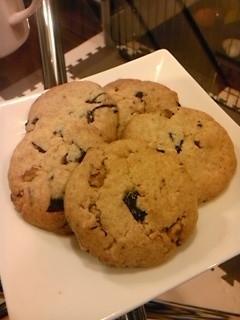 チョコ入り全粒粉とナッツのクッキー