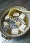 リメイク残りのお刺身とツマで簡単一人鍋☆