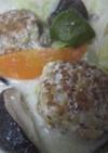 野菜と肉団子のあっさりホワイトクリーム煮