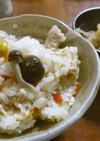 塩麹と冷凍銀杏がんもで炊き込みご飯