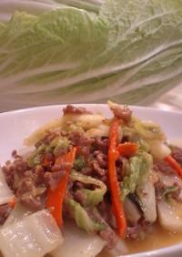 時短白菜のひき肉炒め