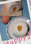 半熟卵みたいなロールケーキ