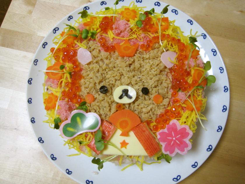 ひなまつりの簡単リラックマちらし寿司♡