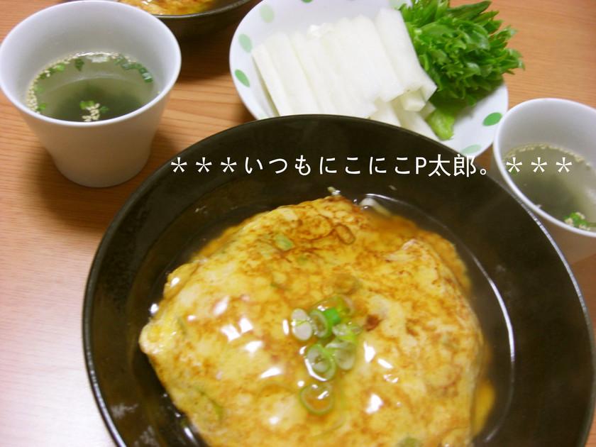 絹豆腐 de ふわっふわの天津飯♪