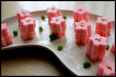 ひな祭りやお花見に♪桜のチーズはんぺん♪